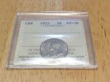 1923 Canada 5 Cent ICCS AU-50!