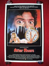 AFTER HOURS * 1985 ORIGINAL MOVIE POSTER 1SH *RARE ROLLED STYLE* MARTIN SCORSESE