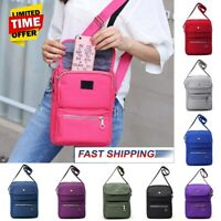 US Women Casual Nylon Crossbody Shoulder Bag Travel Handbag Satchel Tote Purse