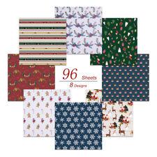 96 Sheets Original Christmas Origami Holiday Folding Paper Crafts 8 Designs