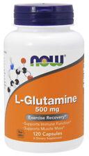 NOW Supplements L-Glutamine 500 mg - 120 Veg Capsules