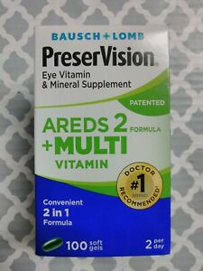 Bausch+Lomb PreserVision Eye Vitamin AREDS 2 100 Softgels  exp:04/23