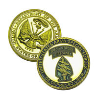 US Military Army Special Forces Group Airborne DE Oppresso Liber Challenge Coin