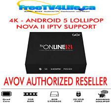 NEW 2017 AVOV TVONLINE N -4K -ANDROID 5 LOLLIPOP -64bit QUADCORE -IPTV KODI BOX