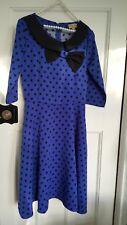 Blue & black Lindy Bop dress size 10, vintage style,1940s/1950s