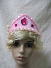 Pink Princess Crown Tiara Aurora Renaissance Medieval Maiden Sleeping Beauty OS