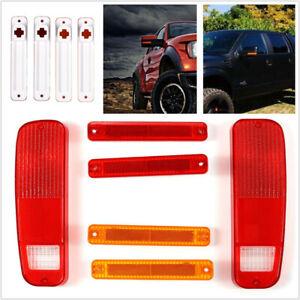 6pcs Tail Light & Side Fender Marker Kit for Fit FORD F150 F250 E150 Truck 73-79