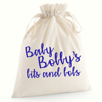 Personalised Babies Bits and Bobs Bag Baby Shower Gifts Baby Nappy Bag Custom B