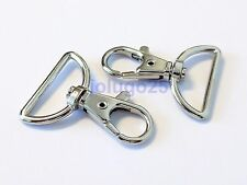 100 Metal Swivel Clasps Lobster Clasps For Paracord 1 inch D Ring #37143-100
