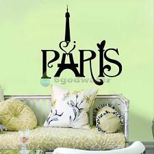 Paris Eiffel Tower Wall Sticker Vinyl Decal Art Mural Home Decor DIY Removable