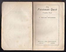 E Phillips Oppenheim - The Passionate Quest - RARE Uncorrected Proof Copy 1924