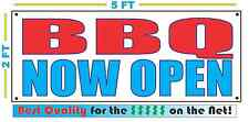 Bbq Now Open Banner Sign New Larger Size Best Quality for the $
