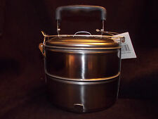 NEW Stainless Steel Food Container Storage Lunch Box 2 Compartment Mess Kit bowl