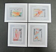 SENEGAL 1992 Summer Olympics Barcelona Runner Sports 4v Sheets MNH