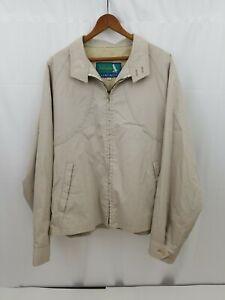 Gleneagles Jack Nicklaus Mens Light Golf Jacket Zip Front Tan 44R Machine Wash