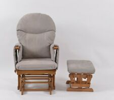 Habebe Rocking Nursing Glider Chair & Stool WASHABLE COVERS & BRAKE SYSTEM