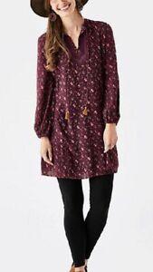 Matilda Jane Moments Local Luxuries Floral Boho Crochet Tassle Rayon Dress Sz XL