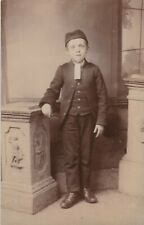 OLD PHOTO CHILDREN BOY FASHION CAP OLDHAM ROCHDALE LANCASHIRE AT1F