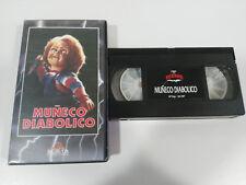 MUÑECO DIABOLICO CHUCKY CHILD´S PLAY TOM HOLLAND TERROR VHS CINTA CASTELLANO