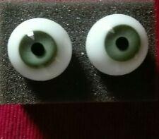 1Paar Mundgeblasene Glasaugen Gr.16 mm Grün