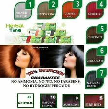 NATURAL HENNA COLORING CREAM HERBAL TIME HAIR COLORANT DYE READY TO USE 75 ML