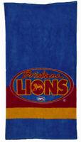 Brisbane Lions AFL Beach Pool Bath Towel 100% Cotton   Brisbane Logo   Man Cave