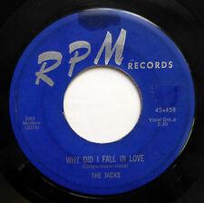 JACKS 45 Why did I fall in love / Sugar baby RPM (BLUE) Doowop  D2152
