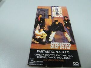 New Kids On The Block ‎–  Step By Step  1990  1ST RARE JAPAN LONG PACK MINI-CD !