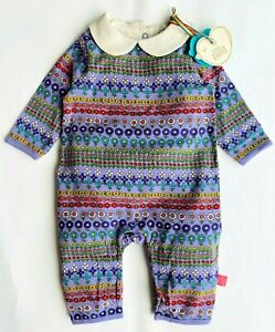 MOTHERCARE Baby Girls Romper Collared Outfit Little Bird Jools Oliver Floral NEW