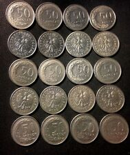 Vintage Poland Coin Lot - 50 GROSZY - 20 Excellent Coins - FREE SHIPPING