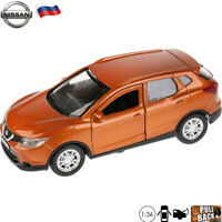 Diecast Car Scale 1:36 Crossover Nissan Qashqai Orange Russian Model Toy Cars