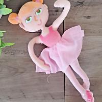 """HALLMARK EXCLUSIVE Ballerina Plush Doll pose-able dancer EUC 12"""""""