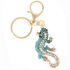 New Wall Gecko Climb Lovely Pendant Charm Crystal Purse Bag Keyring Chain Gift