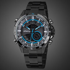 INFANTRY MENS DIGITAL QUARTZ WRIST WATCH CHRONOGRAPH ARMY SPORT STAINLESS STEEL