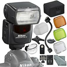 "Nikon SB-700 AF Speedlight Flash Kit with Remote, Bounce Diffuser, 12"" Flash Cor"