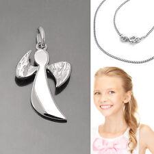 Mädchen Frauen Schutz Engel offene Flügel Anhänger und Kette Echt Silber 925