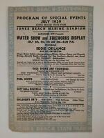 JONES BEACH STATE PARK stadium 1939 Program GAMES events LONG ISLAND NY local