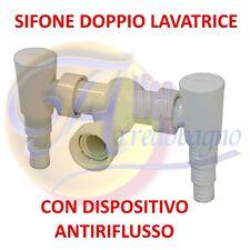 """SIFONE PER LAVATRICE ATTACCO """"DOPPIO GO"""" PER SCARICO LAVATRICE E LAVASTOVIGLIE"""