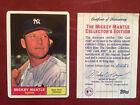 Mickey Mantle NY Yankees Porcelain Baseball Card 1961 Topps #300 Reprint COA