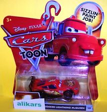 T - SOAKED LIGHTNING MCQUEEN #10 Disney Cars Toons Mater's Tall Tales Diecast