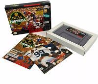 1994 NCAA Football Nintendo SNES Video Game Cartridge, Box, Manual CIB