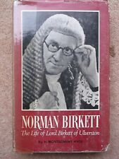NORMAN BIRKETT BY H MONTGOMERY HYDE 1965 HARDBACK