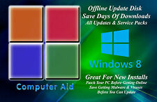 Windows 8 32 & 64 Bit Update Patch Disk - Includes All SPs & All Updates DVD