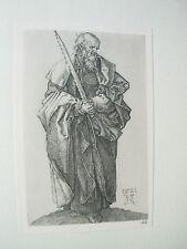 Albrecht DURER VINTAGE incisione su rame st simon