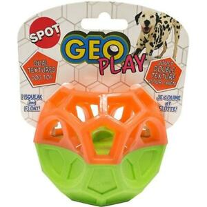 Spot 54532  Geo Play Cube Dual Texure Dog Toy Assorted