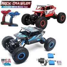 1/18 RC Monster Truck 4WD Off-Road Vehicle 2.4G Remote Control Buggy Crawler Car