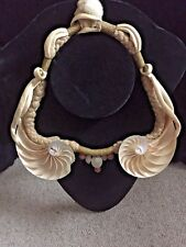 Nautlis Shell Necklace Home Display OOAK Vintage 1980's Made USA SHELL LOVERS