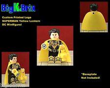 SUPERMAN Yellow Lantern DC Custom Printed LEGO Minifigure w/Custom Ring & lante