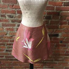 NEW $800  MARNI Jacquard Floral Print Mini Skirt Multicolor Orange 44