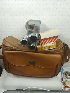 Vintage Keystone Capri  8mm Movie Camera Case Used 8mm Film